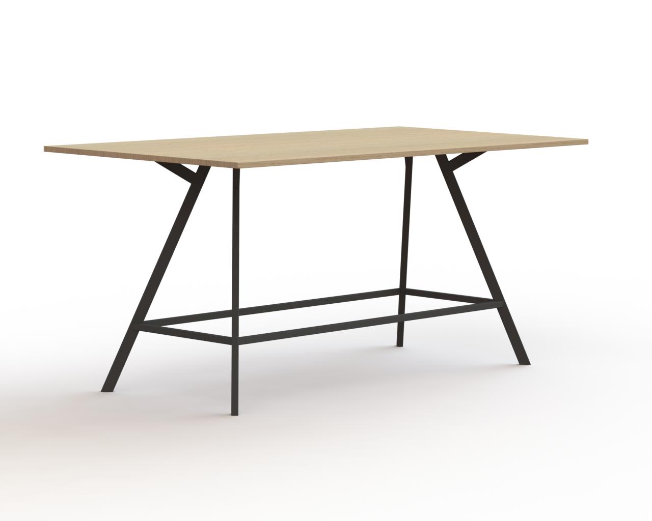 Bridge tafel rechthoek 120×240 poot rechthoek H=110_B_190123